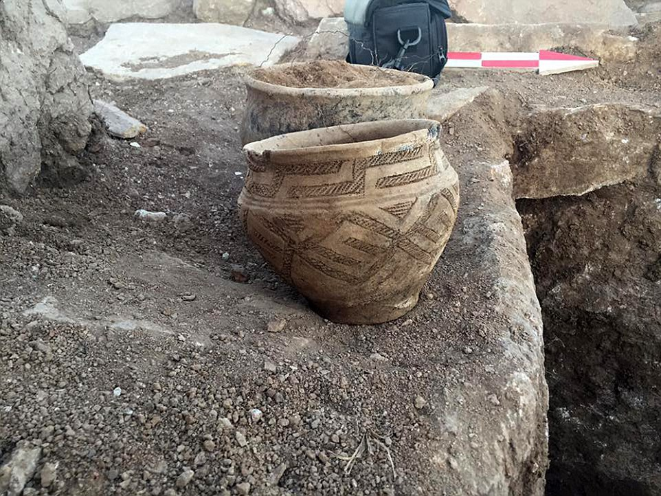 Pottery found at the Kazakh pyramid site