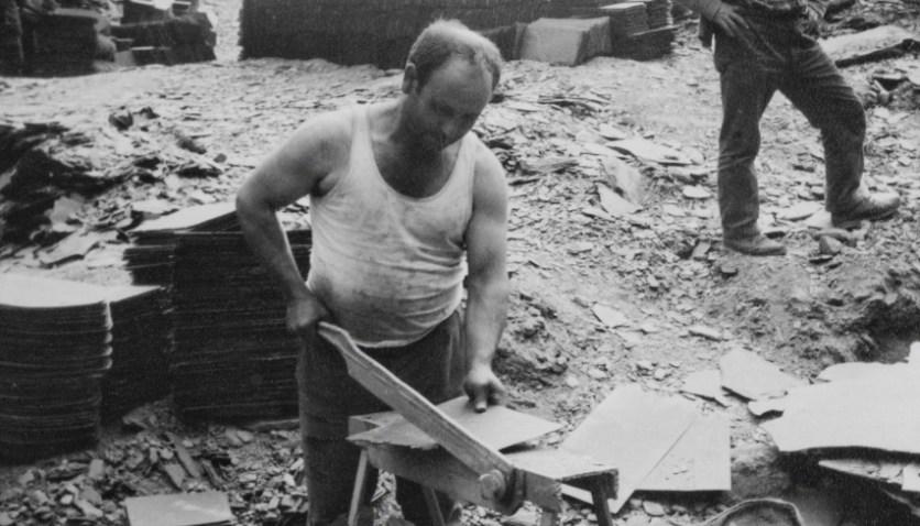 Image result for wheelbarrow full of slate