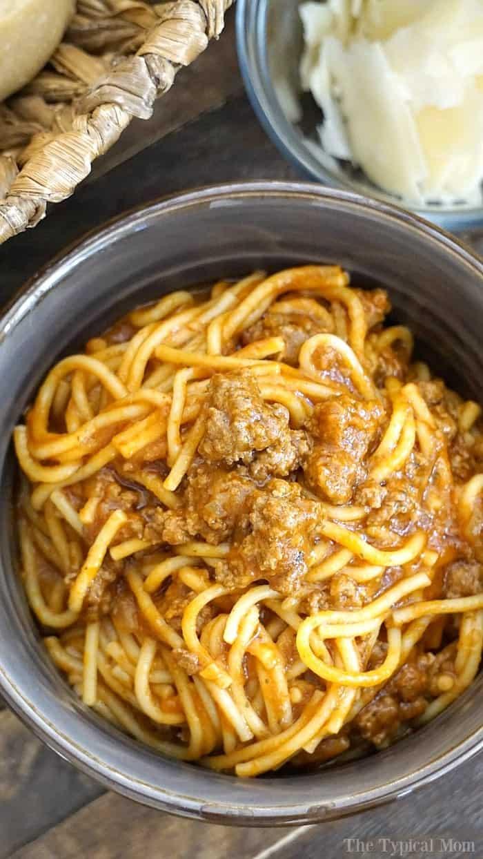 10 Minute Instant Pot Spaghetti