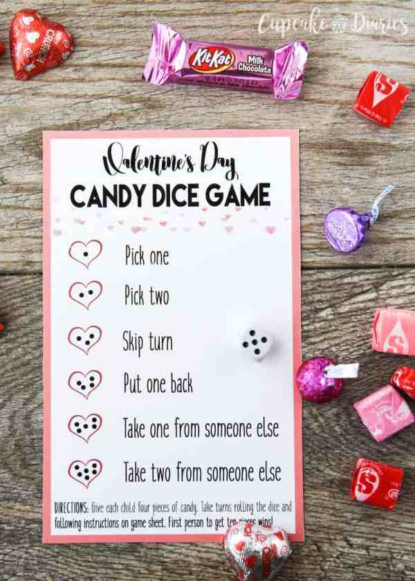 Valentineamp39s Day Candy Dice Game
