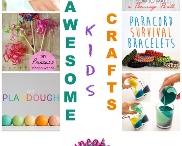 Roundup of 20 great kids crafts from http://www.cupcakesandcrowbars.com