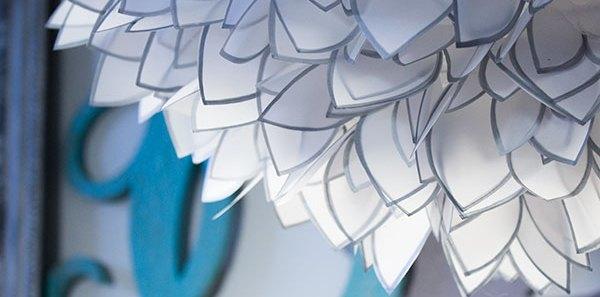 DIY Paper Light Anthropologie