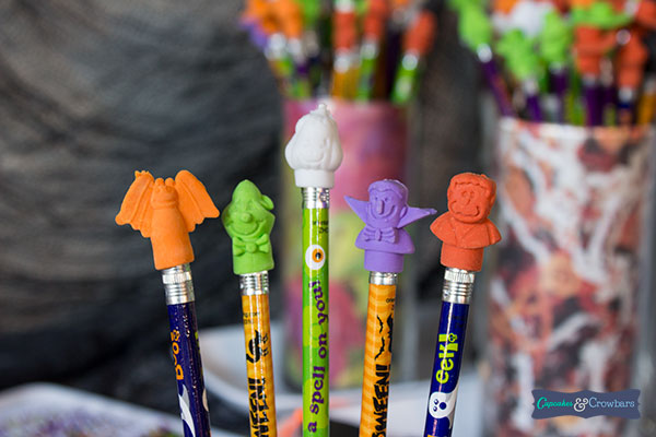Halloween Pencils with Erasers