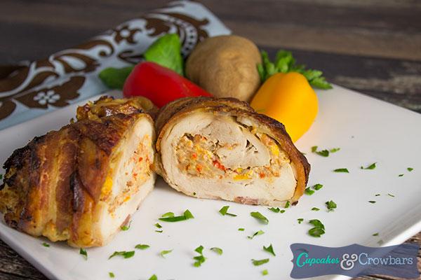 smoked sausage chicken roll