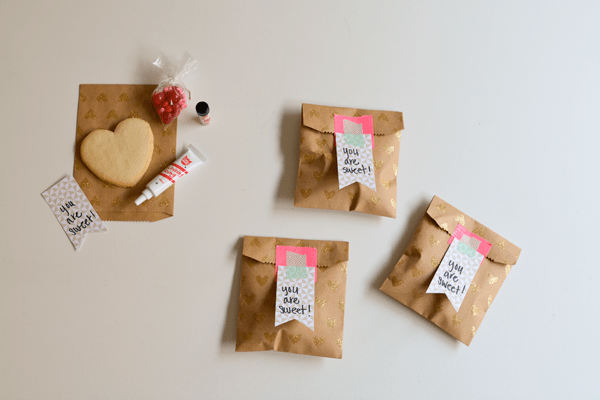 Repackage store bought treats to share the love easily