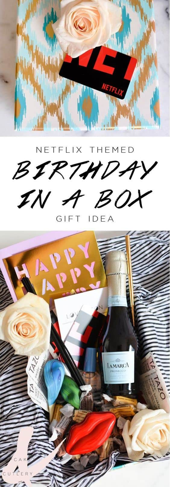 Netflix Gift Subscription Birthday In A Box Cupcakes And Cutlery