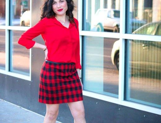 Madewell Red Buffalo Check Skirt | www.cupcakesandthecosmos.com