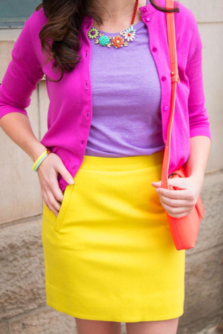 Bright J. Crew Work Wear | www.cupcakesandthecosmos.com