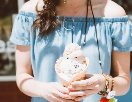 Sweet Cow in Louisville, Colorado + An Off-The-Shoulder Dress You Need | www.cupcakesandthecosmos.com