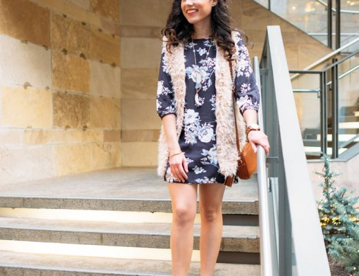 Four Ways To Style A Floral Dress in Winter: Boho Chic | www.cupcakesandthecosmos.com