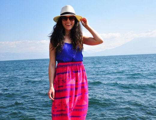 Breezy Maxi Skirt in Panajachel, Guatemala | www.cupcakesandthecosmos.com