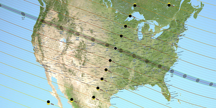 USA Solar Eclipse Map August 21 2017 | www.cupcakesandthecosmos.com