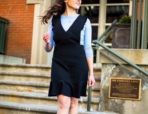 Black Ruffle Jumper and Periwinkle Tippi Sweater | www.cupcakesandthecosmos.com