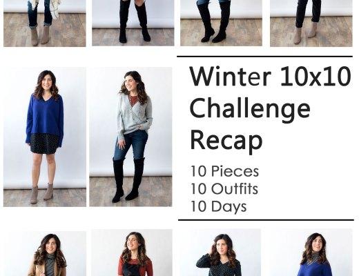 Winter 10x10 Challenge Recap, micro capsule experiment | www.cupcakesandthecosmos.com