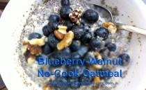 Blueberry-Walnut No-Cook Oatmeal