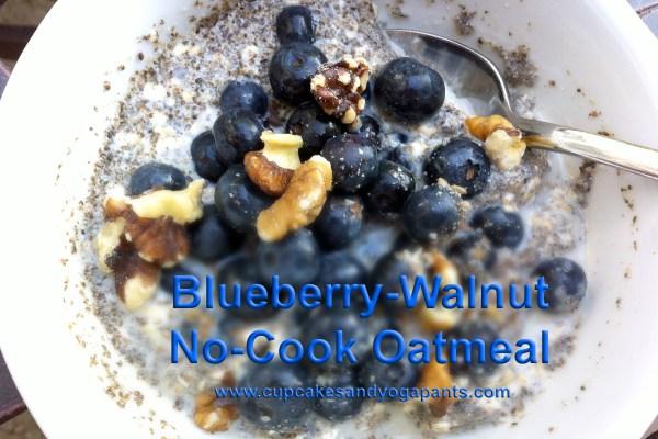 Blueberry-Walnut No-Cook Oatmeal