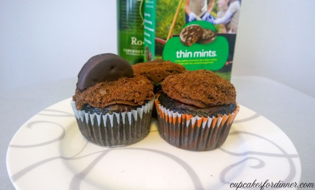 Drunken Thin Mint Cupcakes
