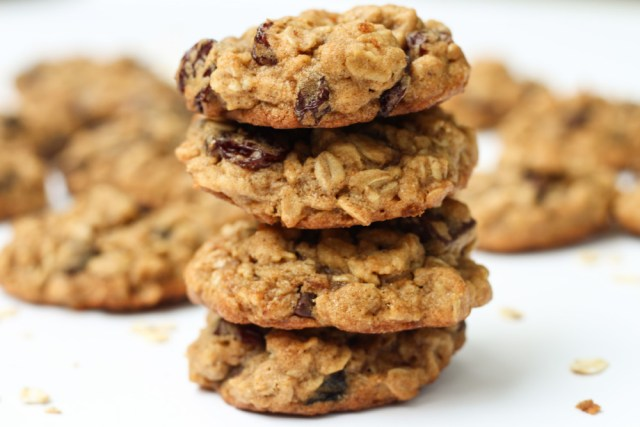Chocolate Cherry Oatmeal Cookies