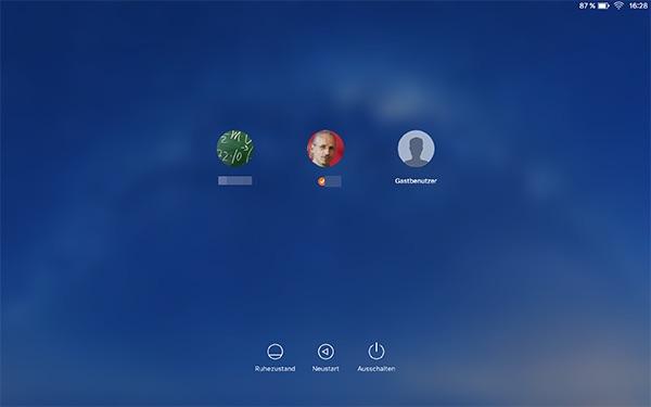 Alternatives Anmeldefenster OS X