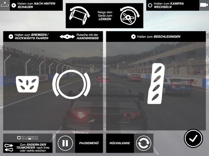 Grid Autosport für iOS - Erklärung der Neigungssteuerung