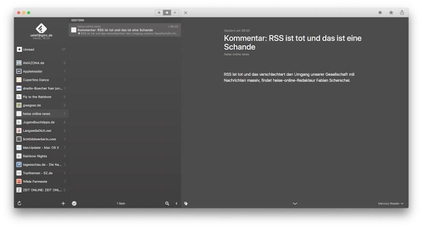 Reeder - macOS-Version