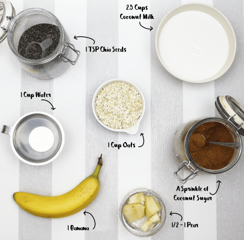 Banana Pear Chia Porridge