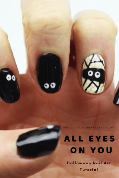 All Eyes On You - Halloween Nail Art Tutorial - Cupful of Sprinkles