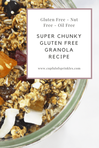 Super Chunky Gluten Free Granola - That Actually Tastes Good