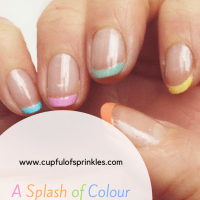 A Splash Of Colour - French Manicure Nail Art Tutorial
