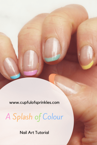 A Splash of Colour - Nail Art Tutorial