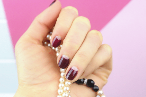 Half Moon Manicure Nail Art Tutorial