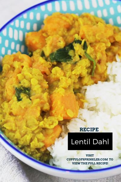 Lentil Dahl Recipe - Cupful of Sprinkles