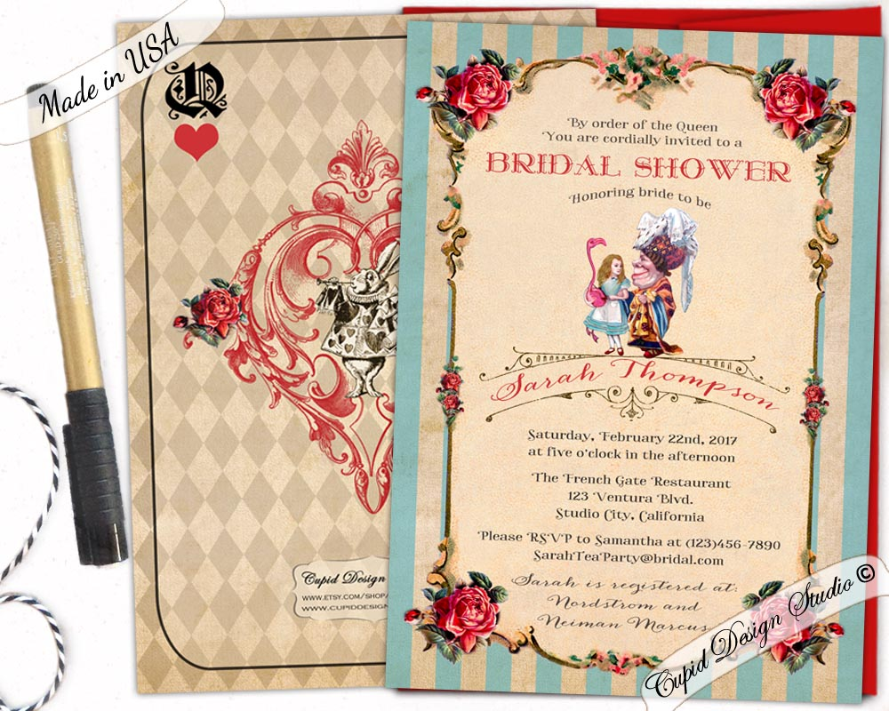Alice Wonderland Wedding Invitations