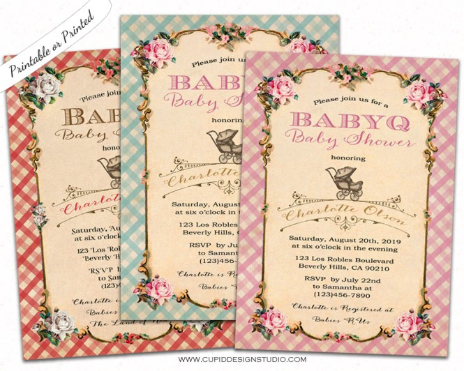 Bbq Baby Shower Invitations Personalized Printable Or Printed 5x7