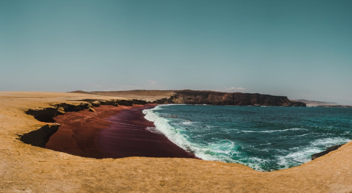 paracas playa roja peru national reserve park travel guide blog