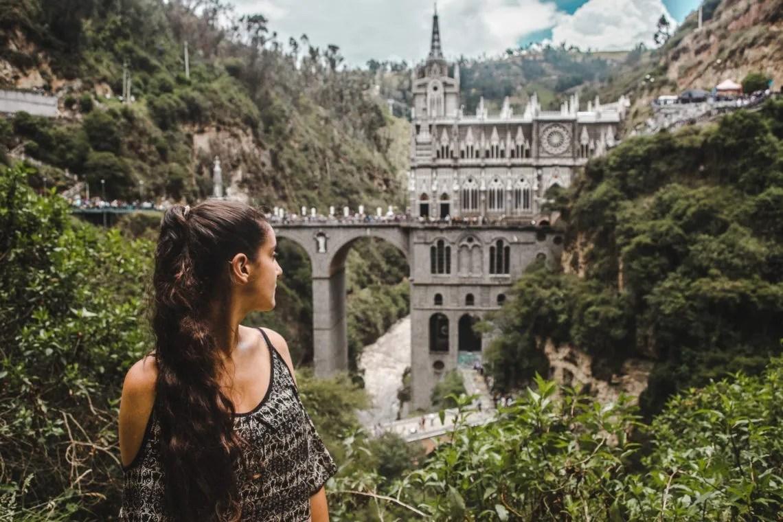 ipiales church El Santuario de Las Lajas Easter Sunday busy crowds colombia travel blog guide