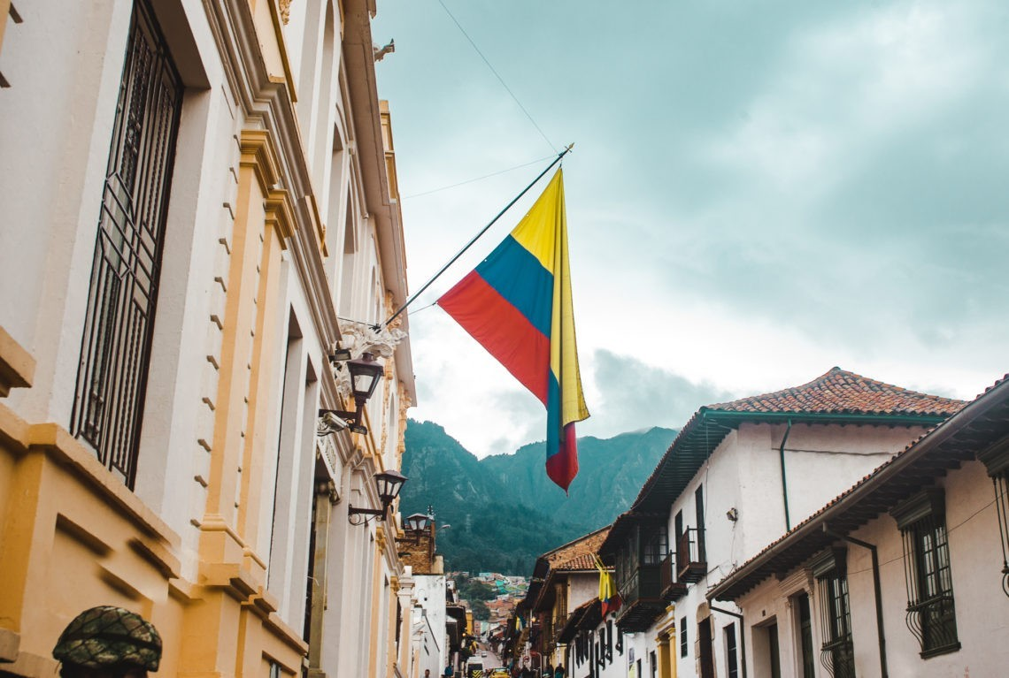 Colombian flag Bogotá Colombia travel tips