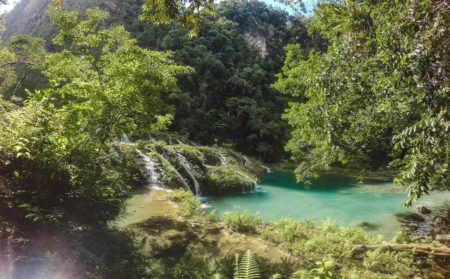 water of semuc champey: 2 weeks in guatemala itinerary