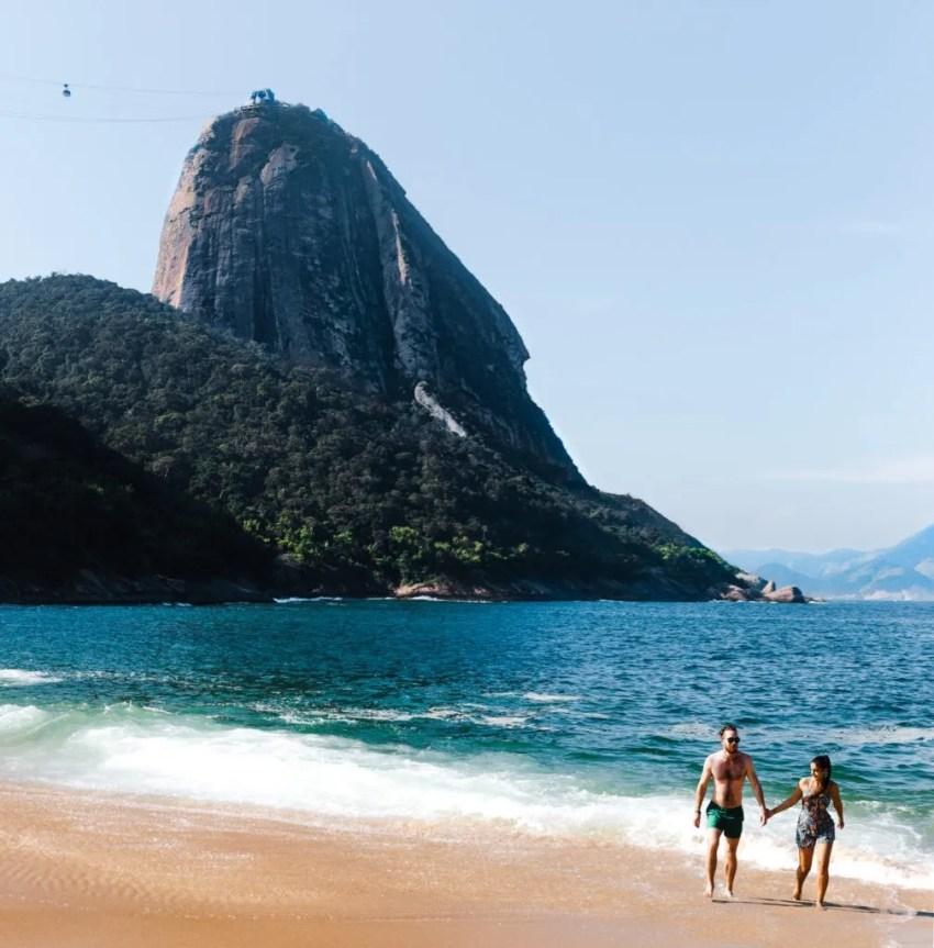 Praia Vermelha red beach Brazil Best time to visit Sugarloaf Mountain Rio de Janeiro Cuppa to Copa Travels South America Guides Rio de Janeiro
