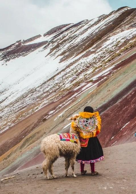 Hike Rainbow Mountain trail from cusco peru