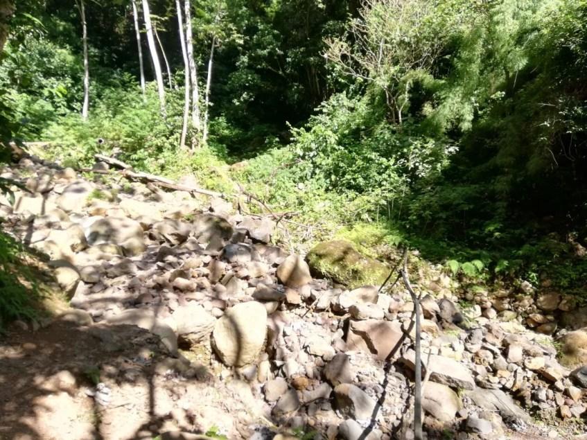 Rocky trail on the hike to san ramon waterfall isla de ometepe nicaragua