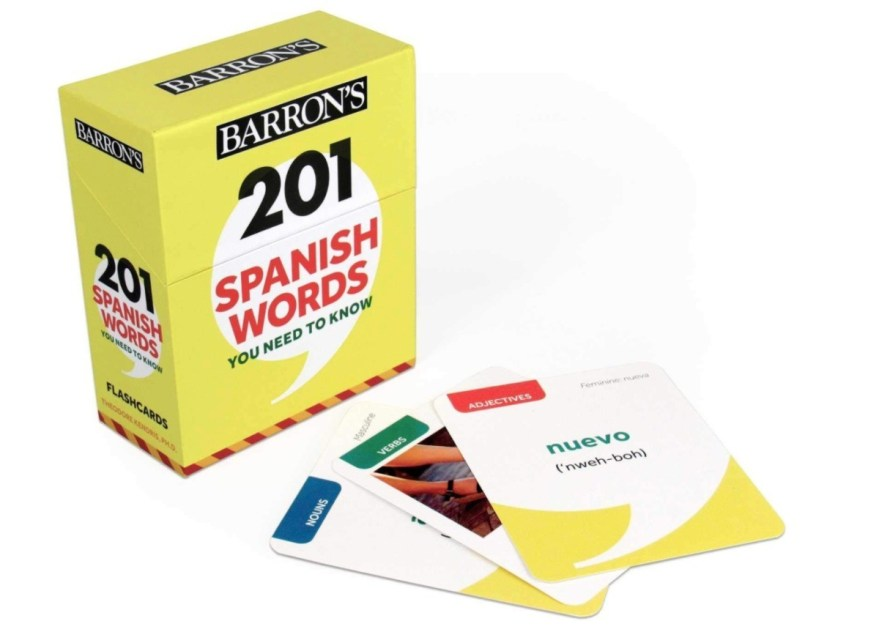 language games: flashcards in spanish: learn spanish for adults best ways
