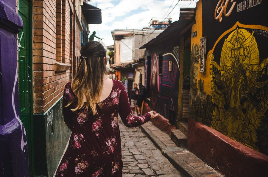 girl in a dress in candelaria: what to wear in bogota colombia