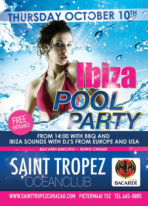 Ibiza Pool Party at St Tropez Curacao