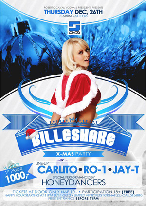 Xmas Billeshake at Cinco Curacao