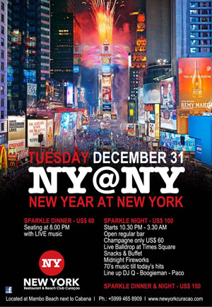 New Year's Eve at New York Curacao