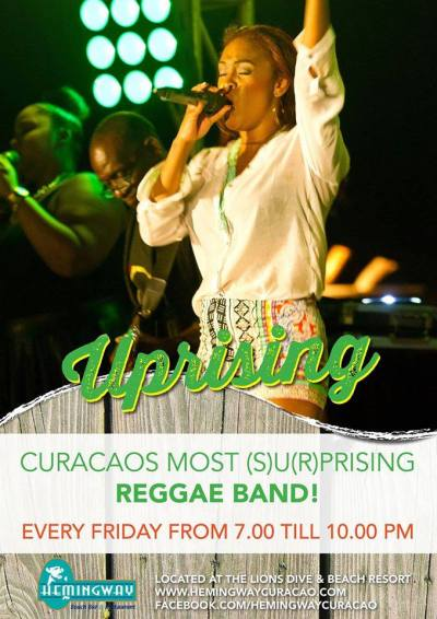 Uprising at Hemingway Beach Bar Curacao