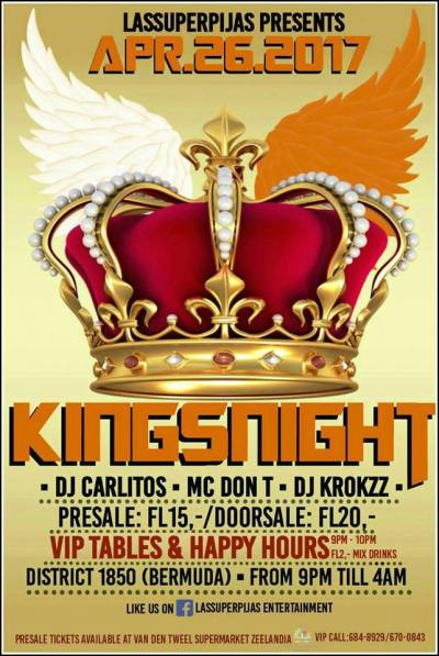 Kings Night at Club 1850 Curacao