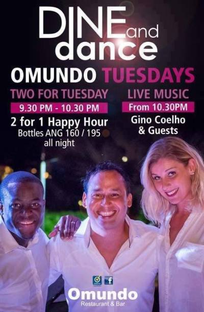 Tuesday with Gino Coelho at Omundo Curacao