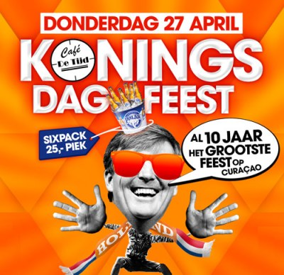 Kings Day Party at Cafe de Tijd Curacao